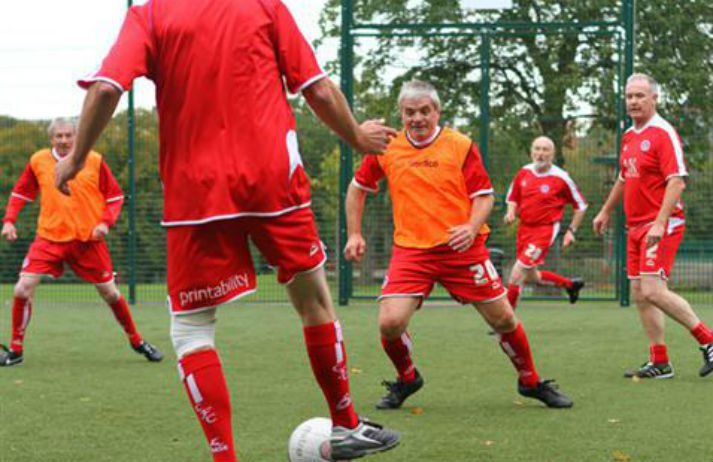 Older men take up walking football