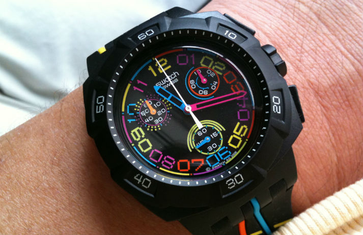 A smartwatch from Swatch