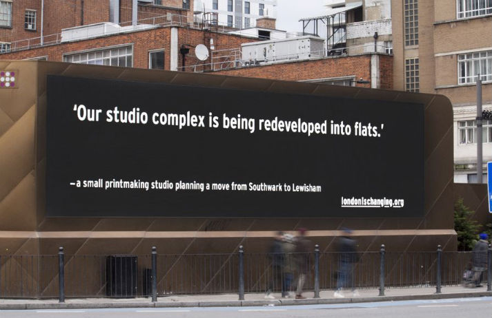 Billboards capture a changing London