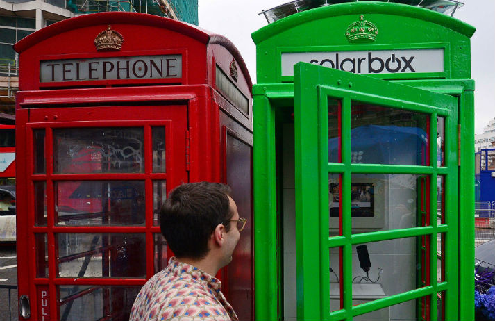 Green and convenient; Solarbox recharges mobiles and phone boxes alike