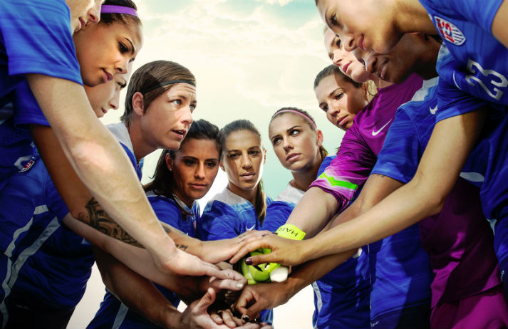 Women's football is kicking men's into touch