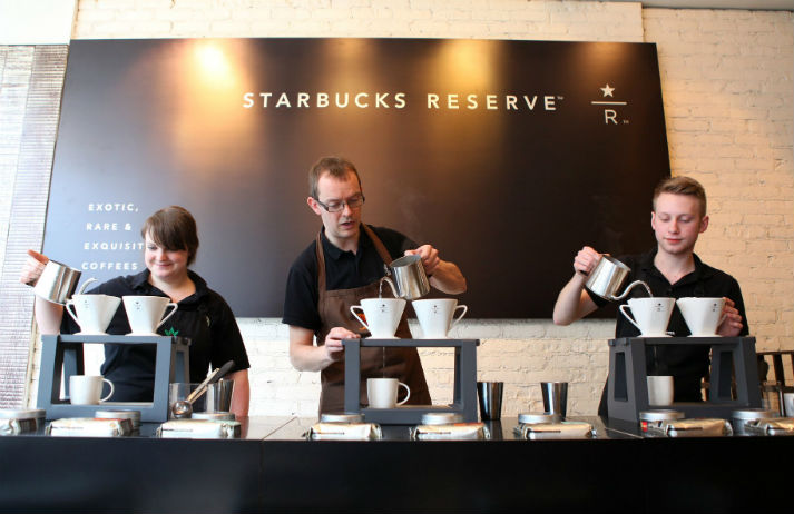 Starbucks Reserve bar appeals to craft coffee fans