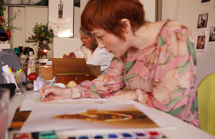 Over-worked individuals are turning to the arts for stress relief