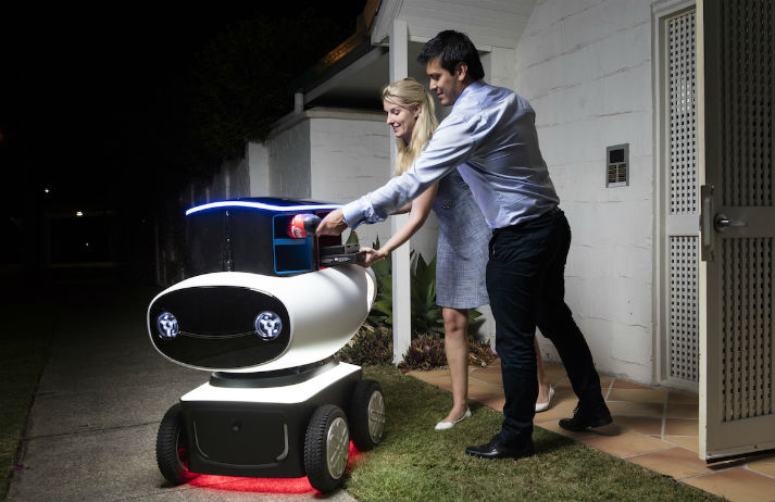 Robots deliver Domino's down under