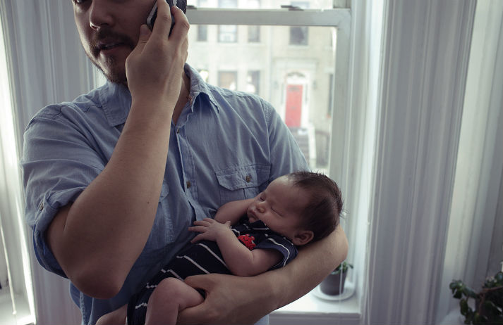 Dads can't stop sharing on social media