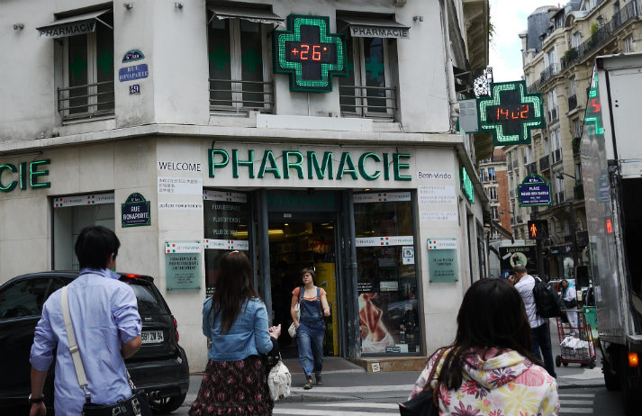 French pharmacies are shutting up shop