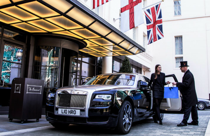 Hotel rooms that come with a chauffered Rolls-Royce