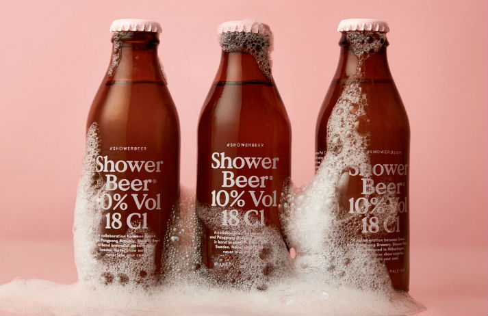 Snask's Shower Beer is designed to be finished in three sips