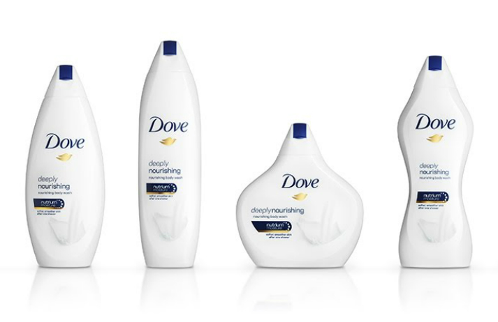 Dove is celebrating body diversity through its bottles