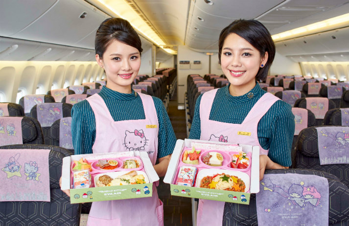 EVA Air launches Hello Kitty-themed plane in China
