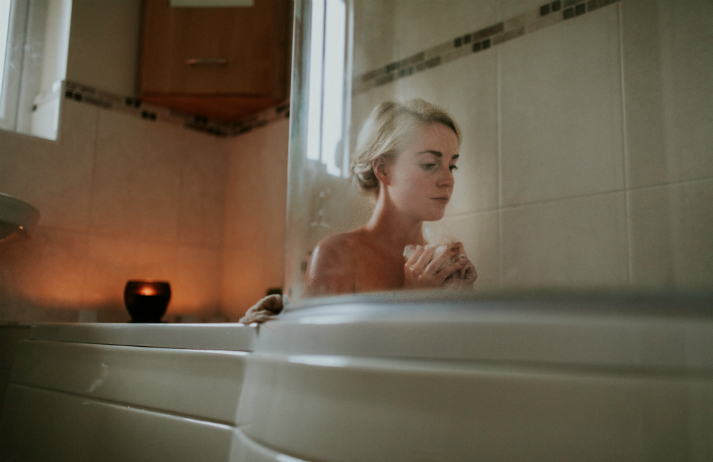 How can a novel soap make breast exams less scary?