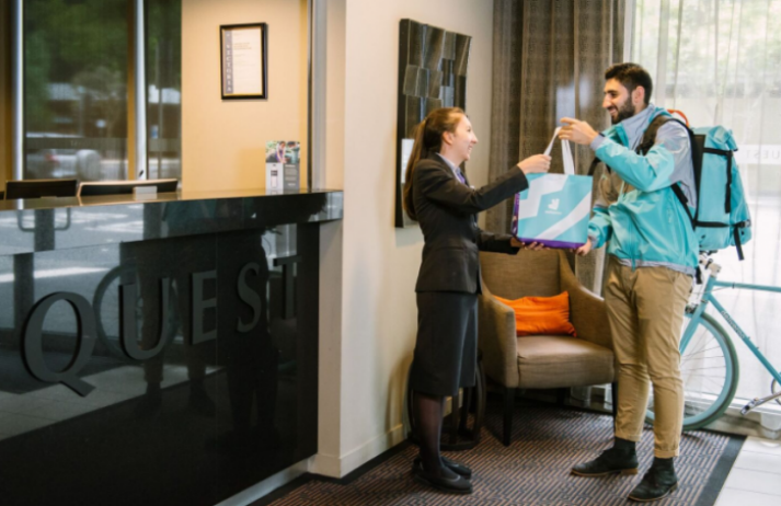 Deliveroo x Quest delivers to time-poor hotel guests