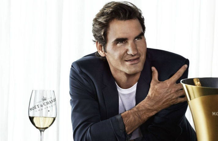Moet signals its quality with Federer champers collab