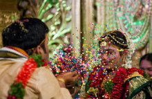 Tourists are buying tickets to real weddings
