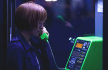 Japanese people visit phone booth to speak to the dead