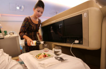 Airlines are upgrading food in economy class