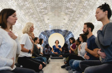 Be Time meditation bus offers convenient mindfulness