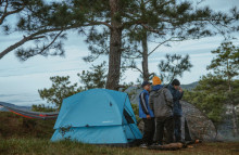 Camping trips give German travellers a distanced thrill